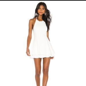 Alice + Olivia Sicily halter dress